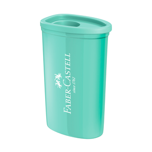 Apontador-com-DepositoTriangular-Azul-Verde---Faber-Castell
