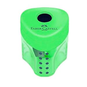 Apontador-com-Deposito-Mini-Grip-2001-Verde---Faber-Castell
