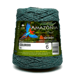 Barbante-Amazonia-Nº-6-com-600g-Sao-Joao---Cor-12-Verde-Musgo