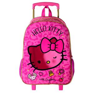 Mochila-de-Rodinhas-Hello-Kitty-Glam-16---Ref.-8820---Xeryus
