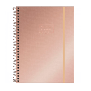 Agenda-Espiral-Planner-M7-West-Village-Metalizado-2021-Rose-Gold---Tilibra