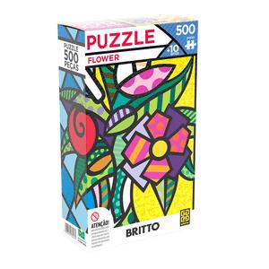 Puzzle-500-Pecas-Flower-Romero-Britto-Grow