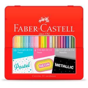 Ecolapis-de-Cor-24-Cores-Pastel-Neon-Metallic-Faber-Castell