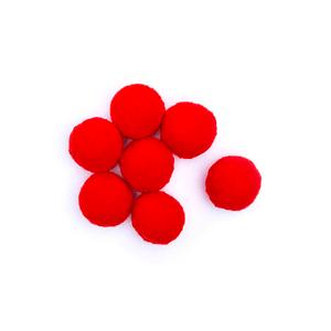 Pompom-Solto-10mm-com-100-Luli---Cor-07-Vermelho