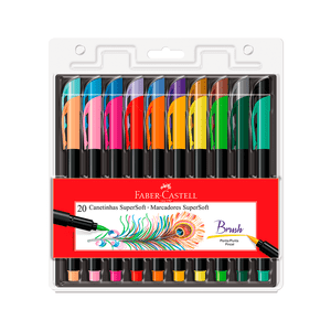 Canetinha-SuperSoft-Brush-20-Cores---Faber-Castell