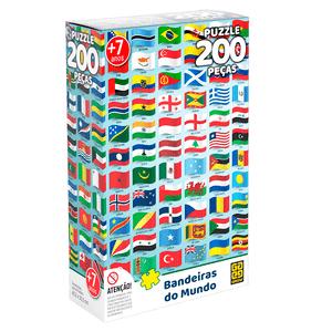 Quebra-Cabeca-200-Pecas-Grow---Bandeiras-do-Mundo