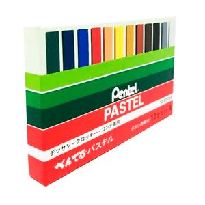 Giz-Pastel-Seco-com-12-Cores---Pentel