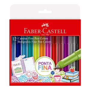 Caneta-Fine-Pen-Colors-12-Cores-Modelo-2---Faber-Castell