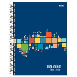 Caderno-Pedagogico-C.D.-80-Fls-Quadriculado-1x1cm-Azul---Sao-Domingos